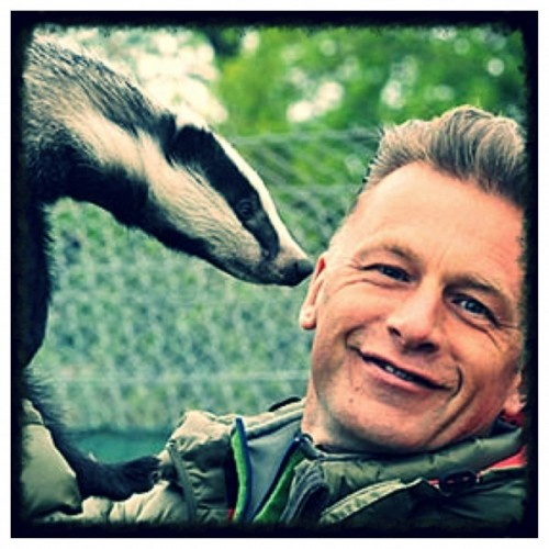 Chris Packham and badger