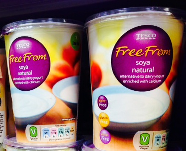 tesco vegan yogurts